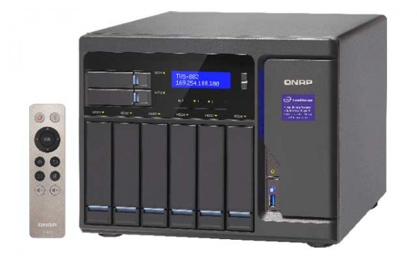 Qnap TVS-882-i5-16G 3.6GHz QuadCore 8-Bay NAS 24TB Bundle mit 6x 4TB WD40EFRX WD Red