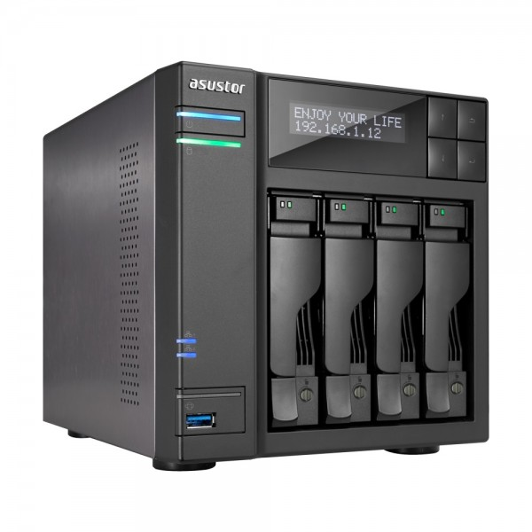 Asustor AS7004T-I5 4-Bay 40TB Bundle mit 4x 10TB Gold WD102KRYZ