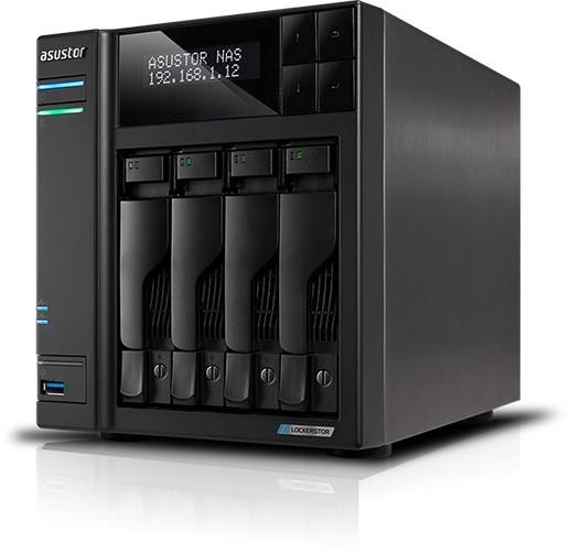 Asustor AS6604T 4-Bay 24TB Bundle mit 2x 12TB Gold WD121KRYZ