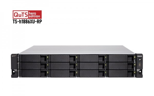 QNAP TS-h1886XU-RP-D1622-128G QNAP RAM 18-Bay 144TB Bundle mit 12x 12TB Gold WD121KRYZ