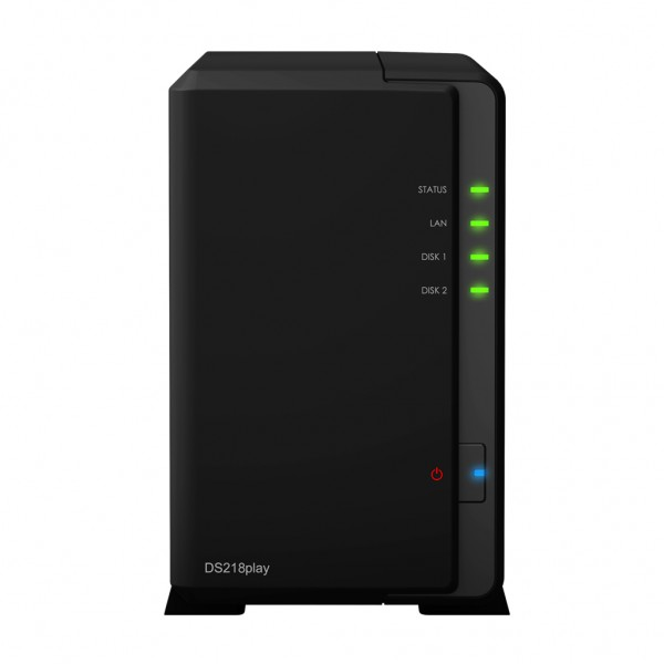 Synology DS218play 2-Bay 8TB Bundle mit 2x 4TB Red WD40EFRX