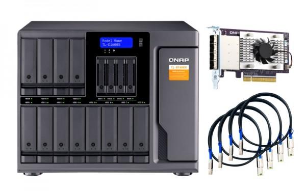 QNAP TL-D1600S 16-Bay 60TB Bundle mit 6x 10TB Gold WD102KRYZ