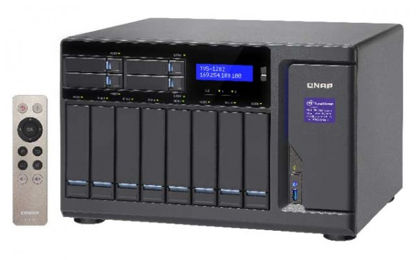Qnap TVS-1282-i3-8G 3.7GHz 12-Bay NAS 64TB Bundle mit 8x 8TB WD80EFZX WD Red